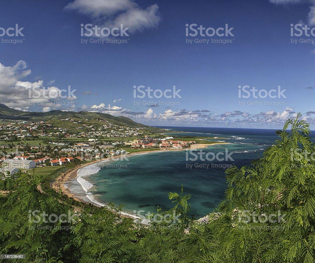 Beach at Basseterre on St Kitts Eastern Caribbean stock photo