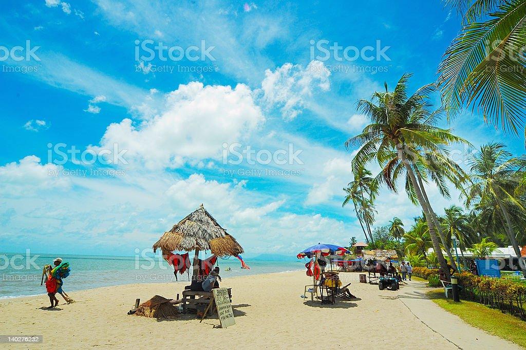 Beach at Batu Ferringhi stock photo