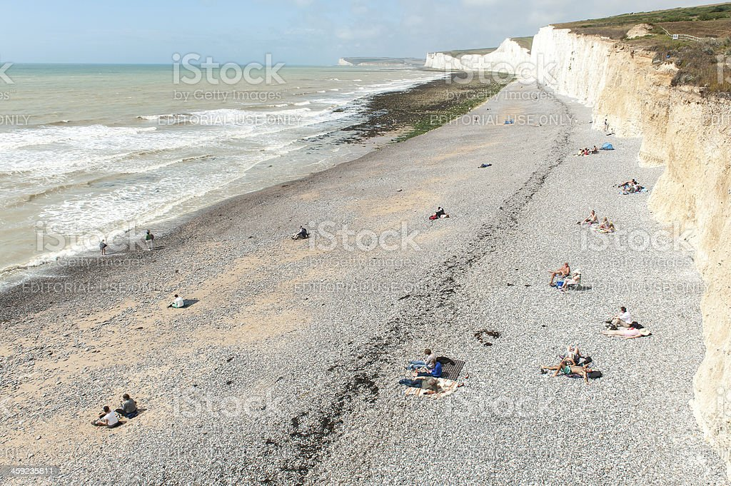 Beach at Birling Gap, Seven Sisters, nr Eastbourne, UK stock photo