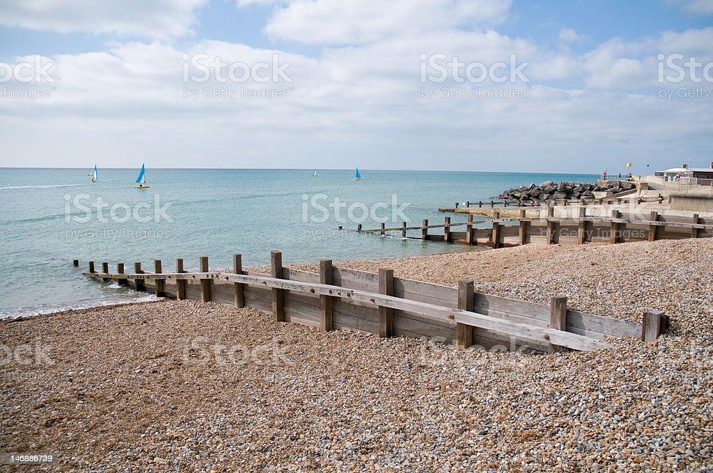 Beach at Bognor Regis stock photo