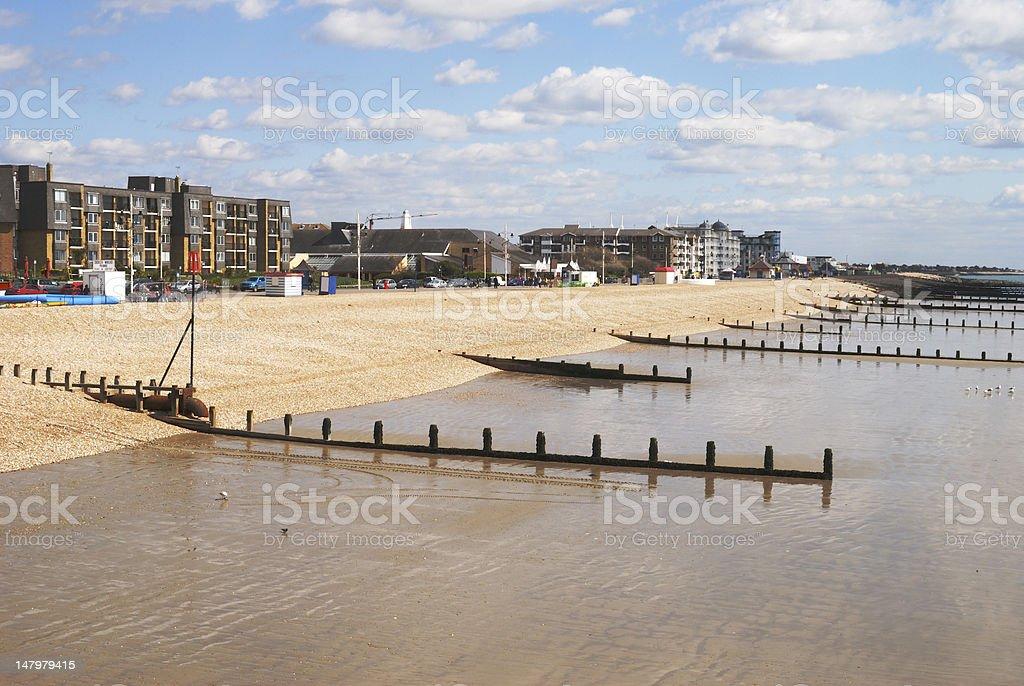 Beach at Bognor Regis. Sussex. England stock photo