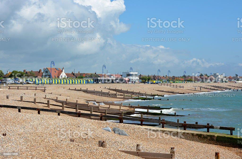 Beach at Bognor Regis, West Sussex, England stock photo