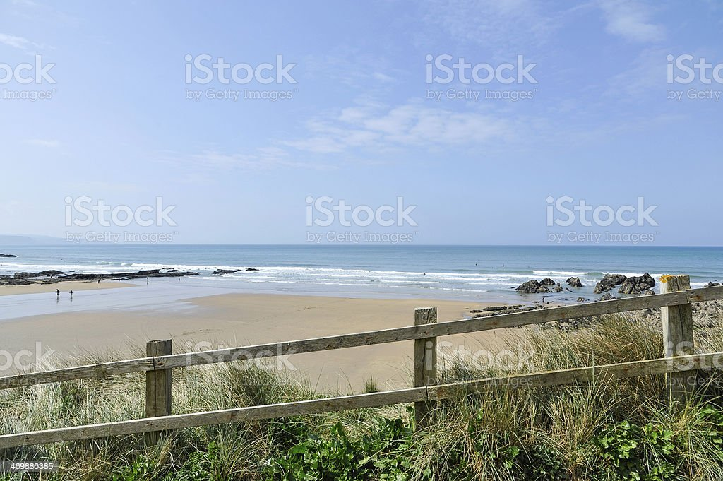 Beach at Bude in Cornwall, England, UK stock photo