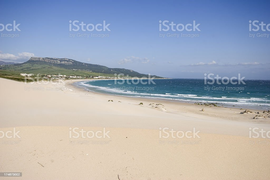 Beach at Cadiz royalty-free stock photo
