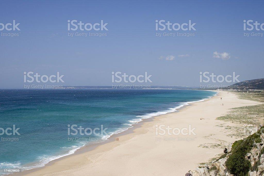 Beach at Cadiz Province royalty-free stock photo