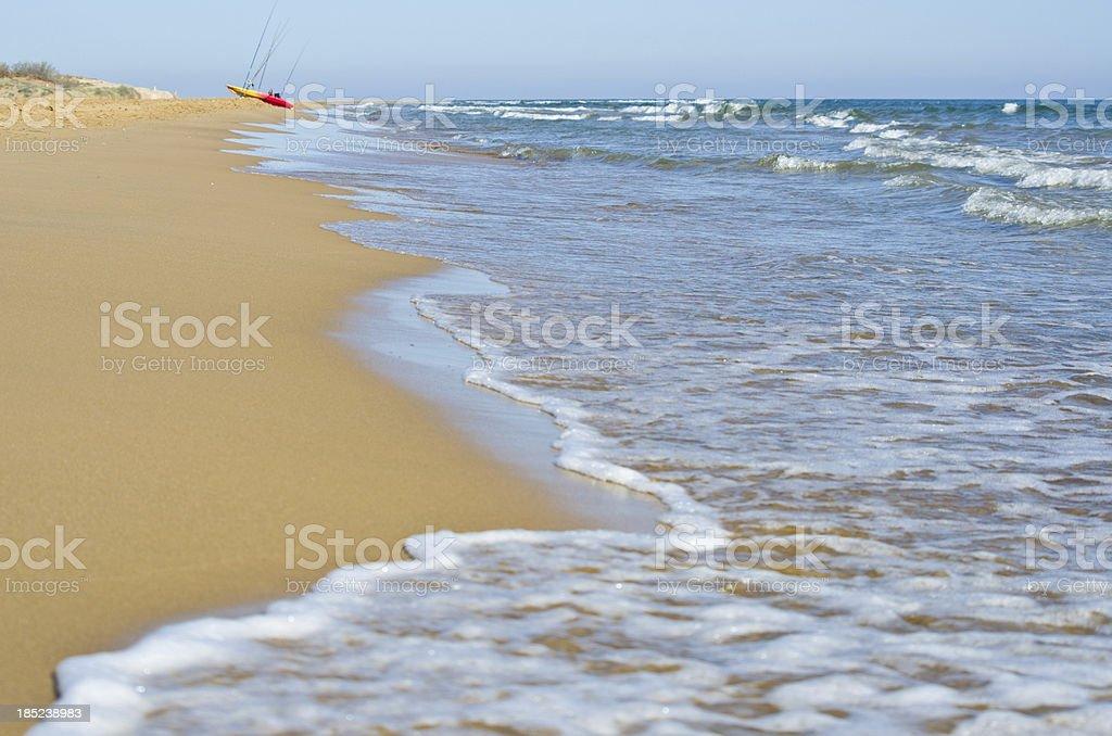 Beach at Calblanque in Murcia Spain stock photo