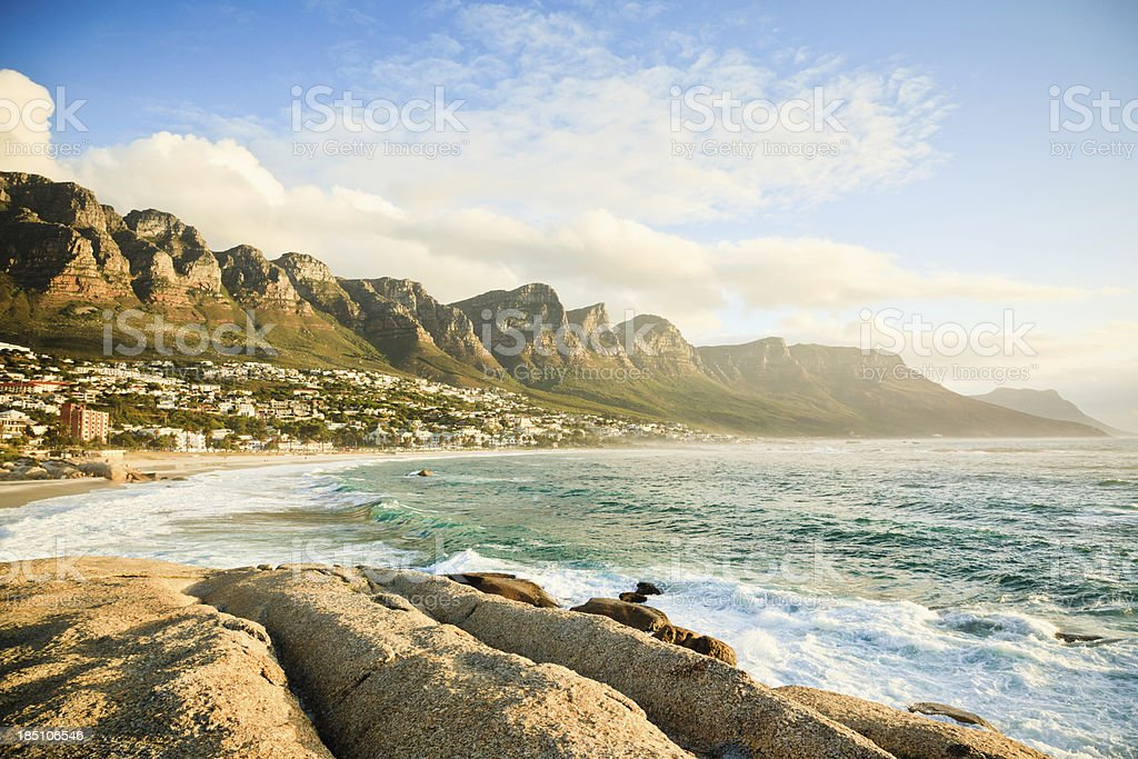 Beach at Camps Bay Cape Town South Africa royalty-free stock photo