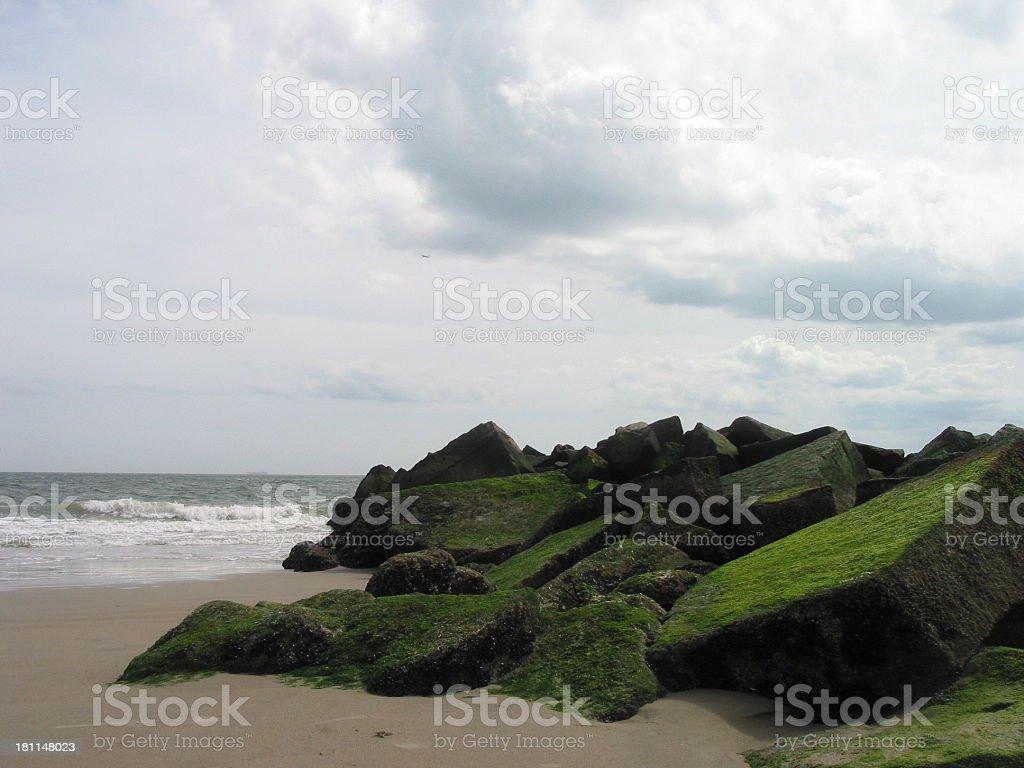 beach at coney island royalty-free stock photo