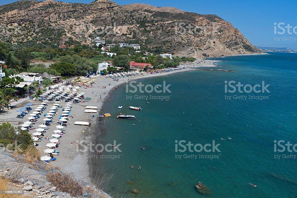 Beach at Crete island in Greece stock photo