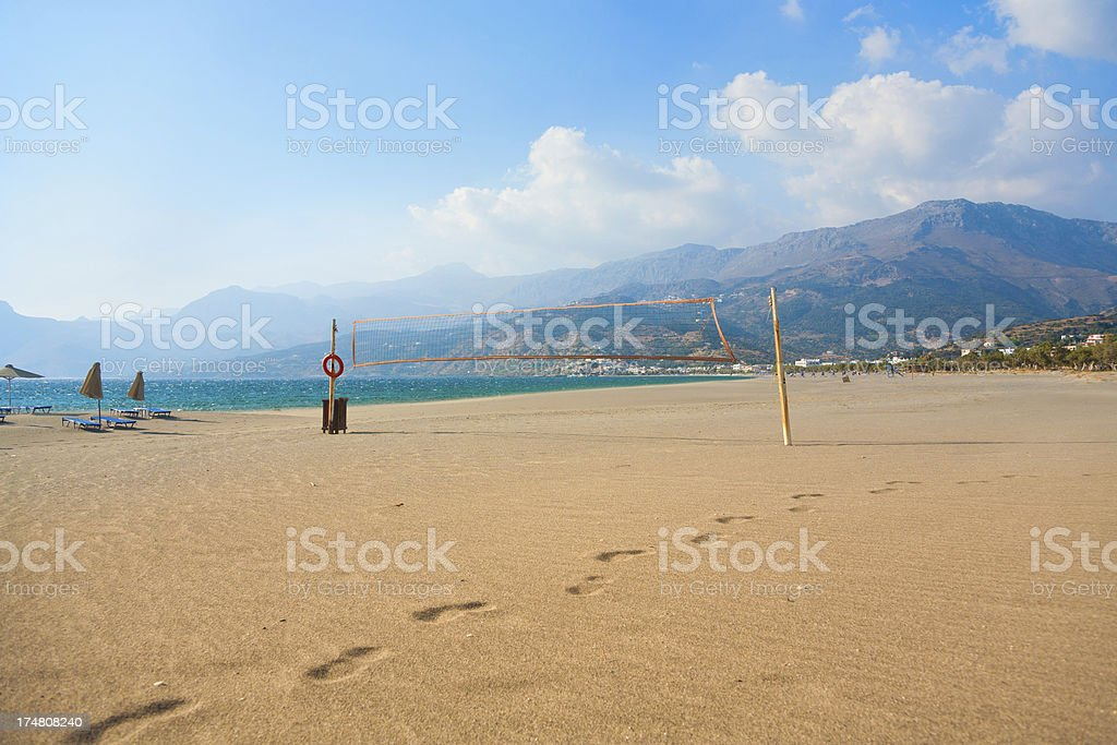 beach at Crete island stock photo