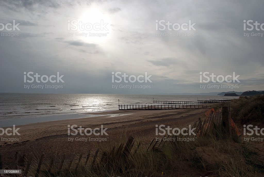 Beach at Dawlish Warren stock photo