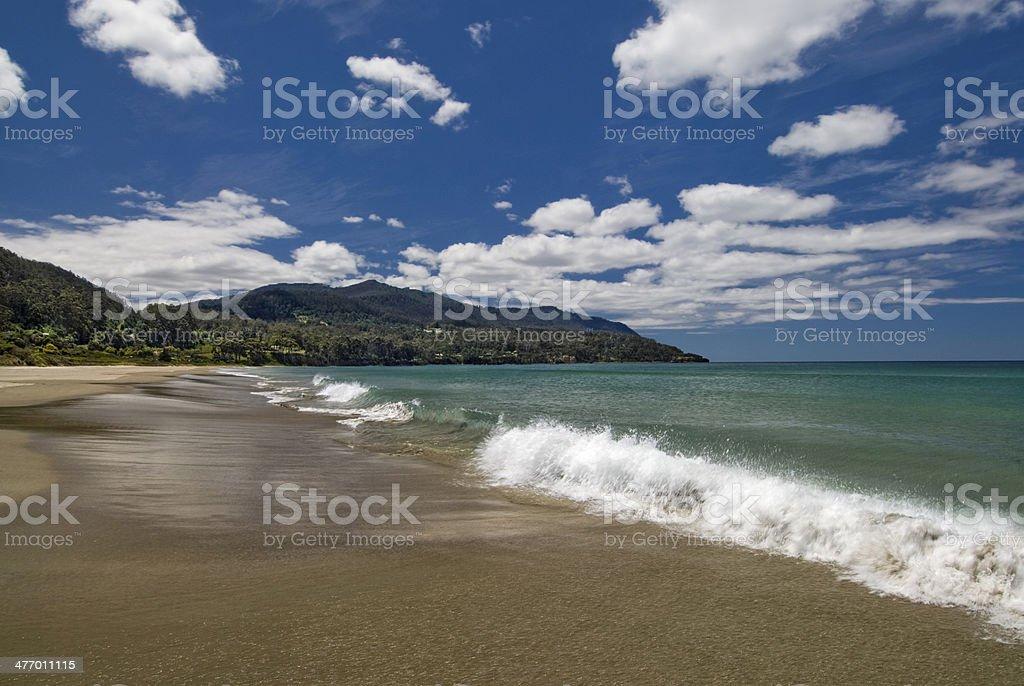 Beach at Eaglehawk neck, Tasmania, Australia stock photo