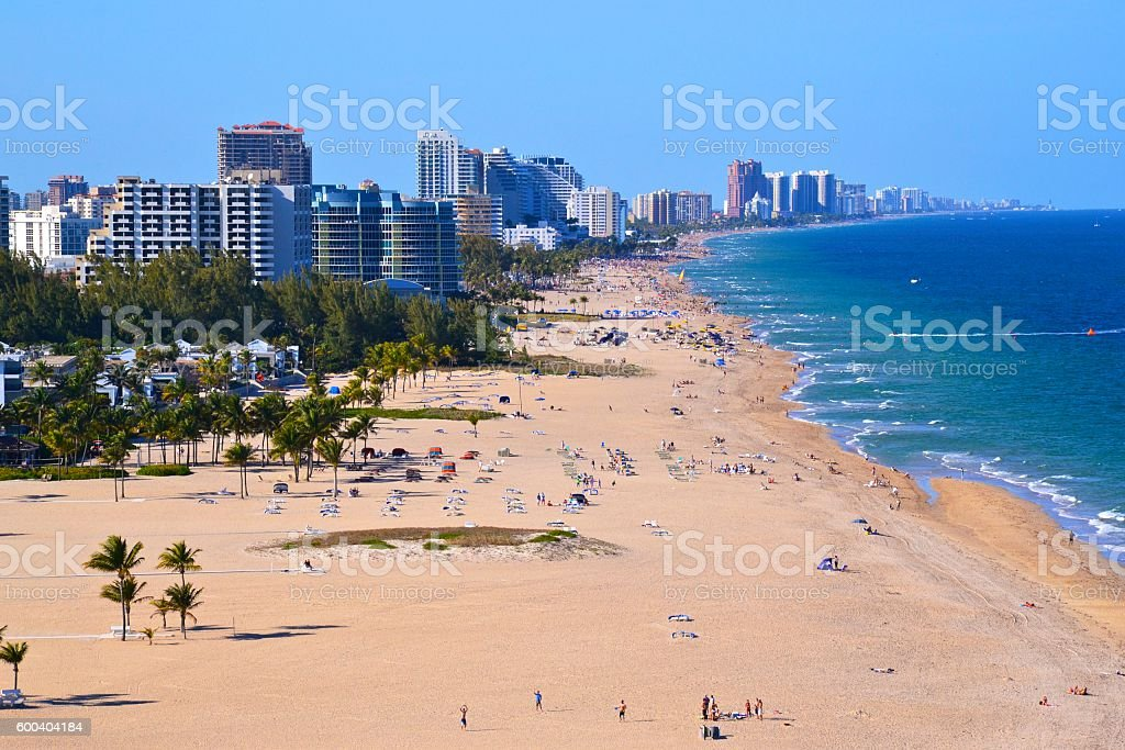 Beach at Fort Lauderdale stock photo