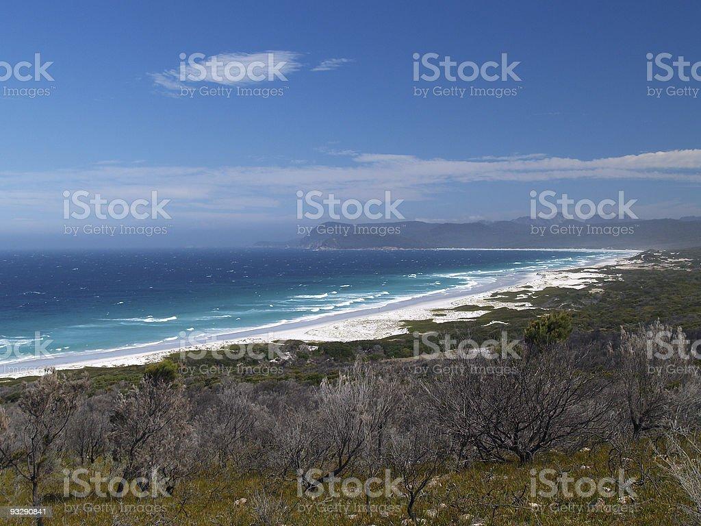 Beach at Freycinet National Park, Tasmania stock photo