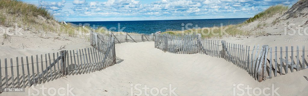 Beach at in Provincetown, MA on Cape Cod stock photo
