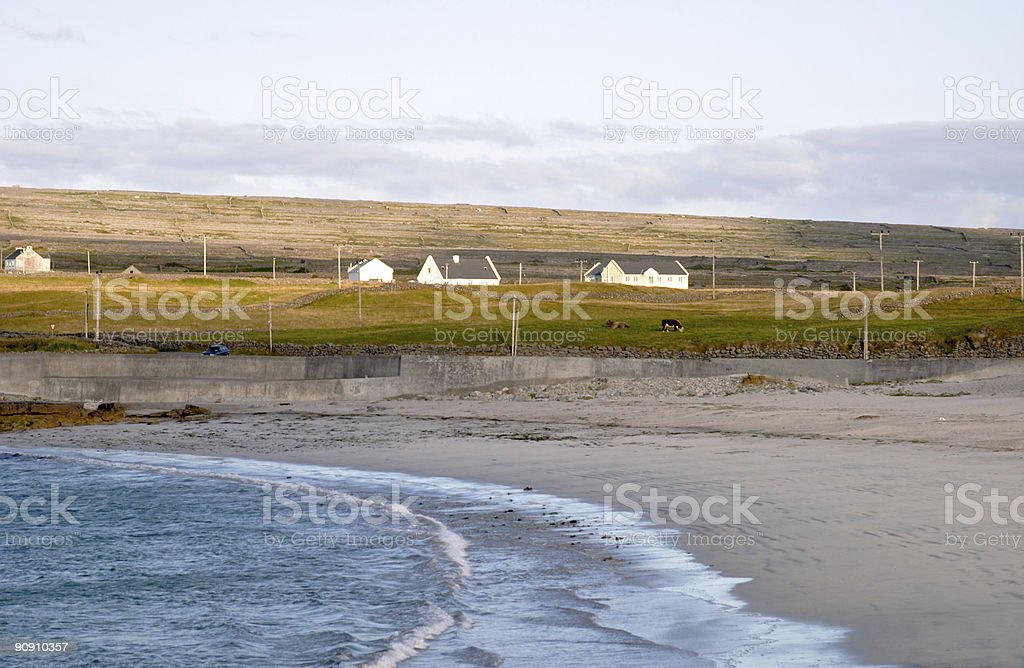 Beach at Inis M royalty-free stock photo