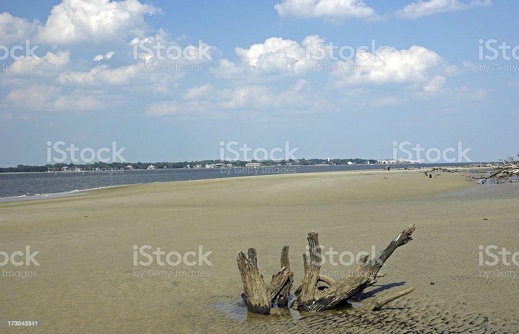 Beach at Jekyll Island GA stock photo