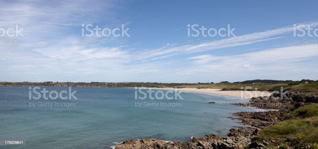Beach at Kermorvan Peninsula, Finistere, Brittany, France royalty-free stock photo