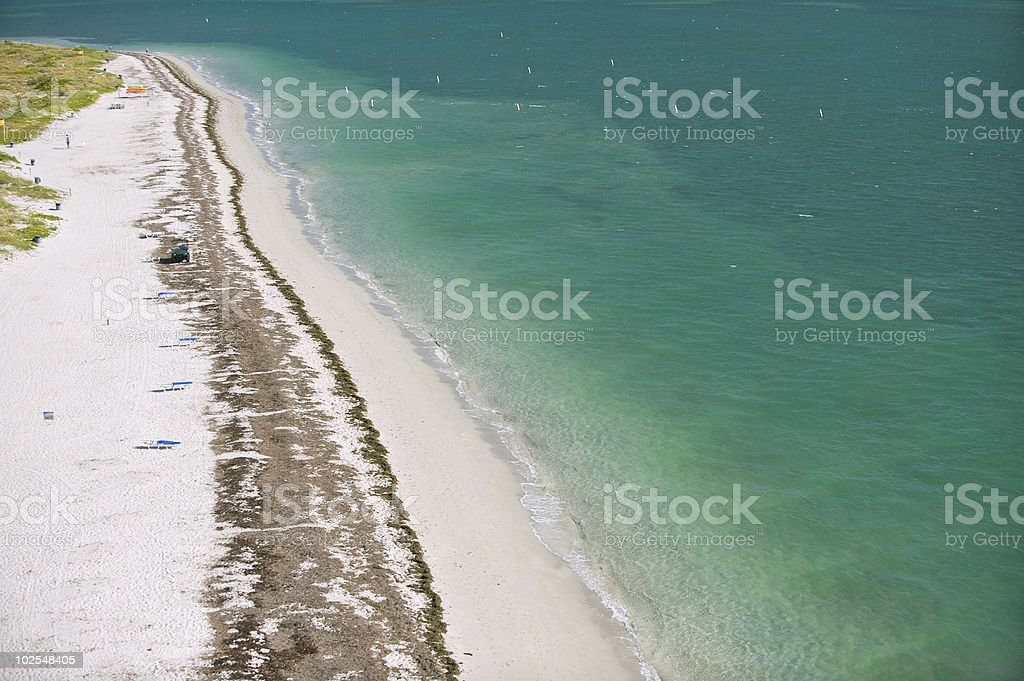 beach at key biscayne and cape florida stock photo
