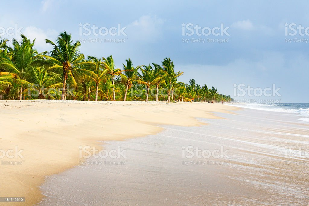 Beach at Kochi Kerala State India stock photo