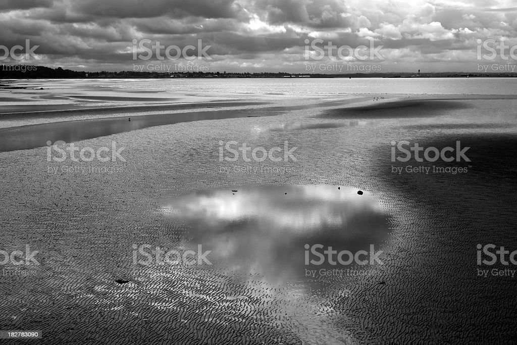 Beach At Low Tide stock photo