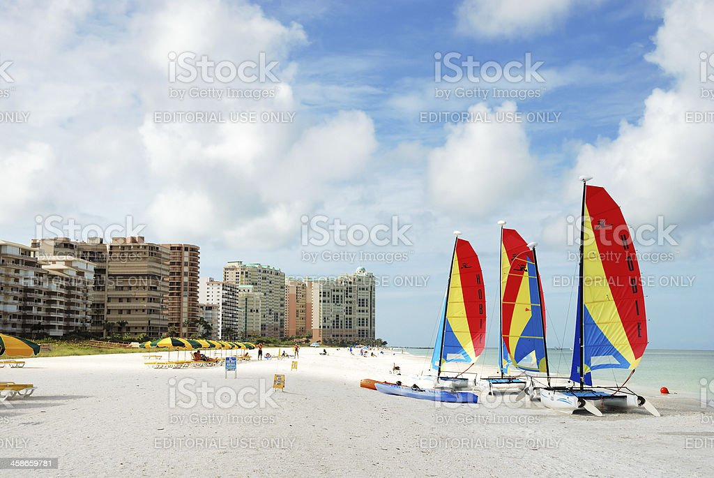 Beach at Marco Island Florida stock photo