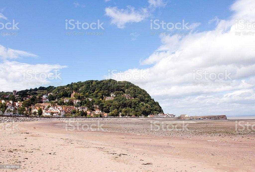 Beach at  Minehead, Somerset, UK stock photo
