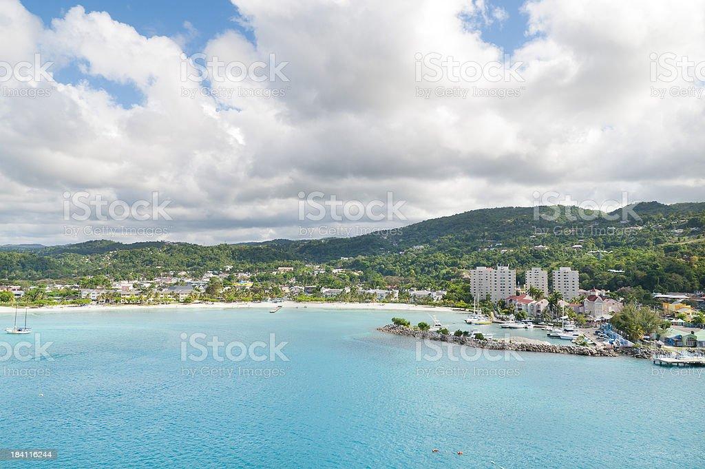 Beach at Ocho Rios Jamaica stock photo