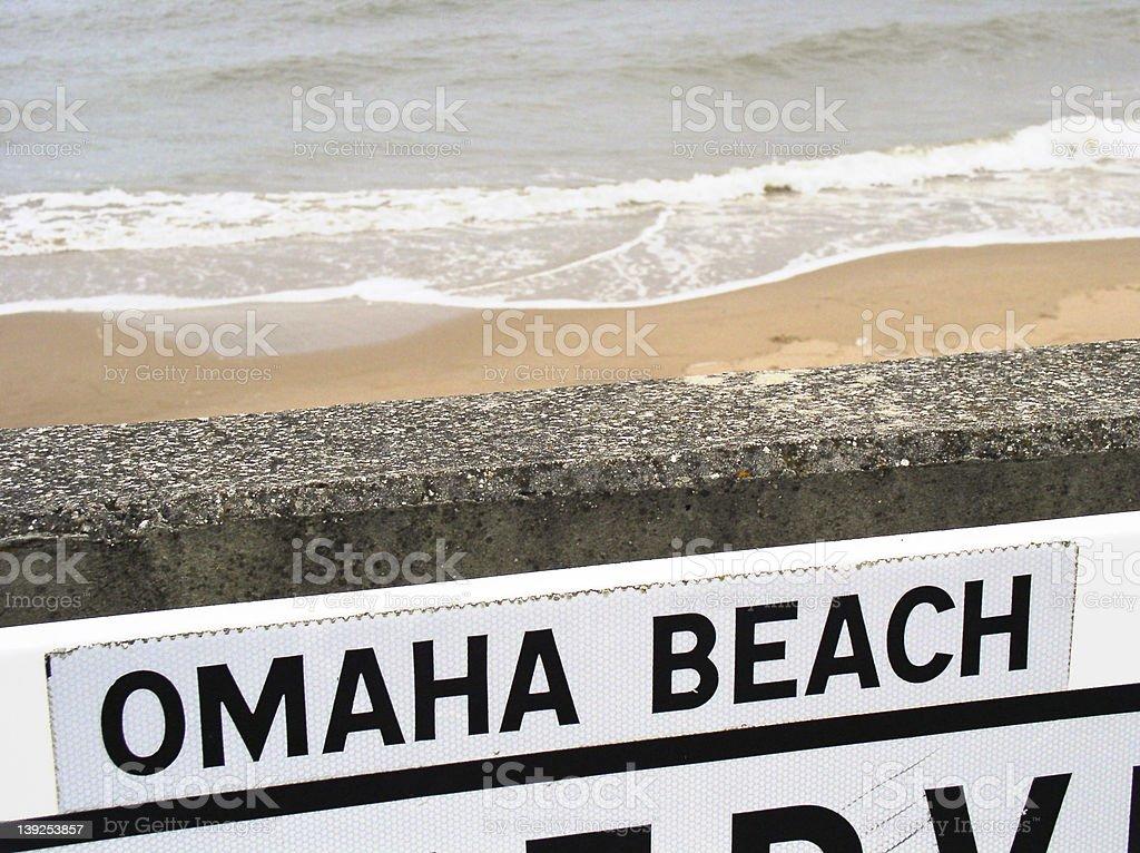 beach at Omaha, Normandy stock photo