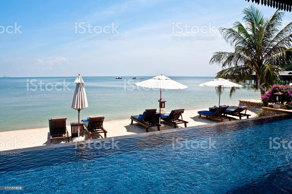 Beach at Pangkor Laut stock photo