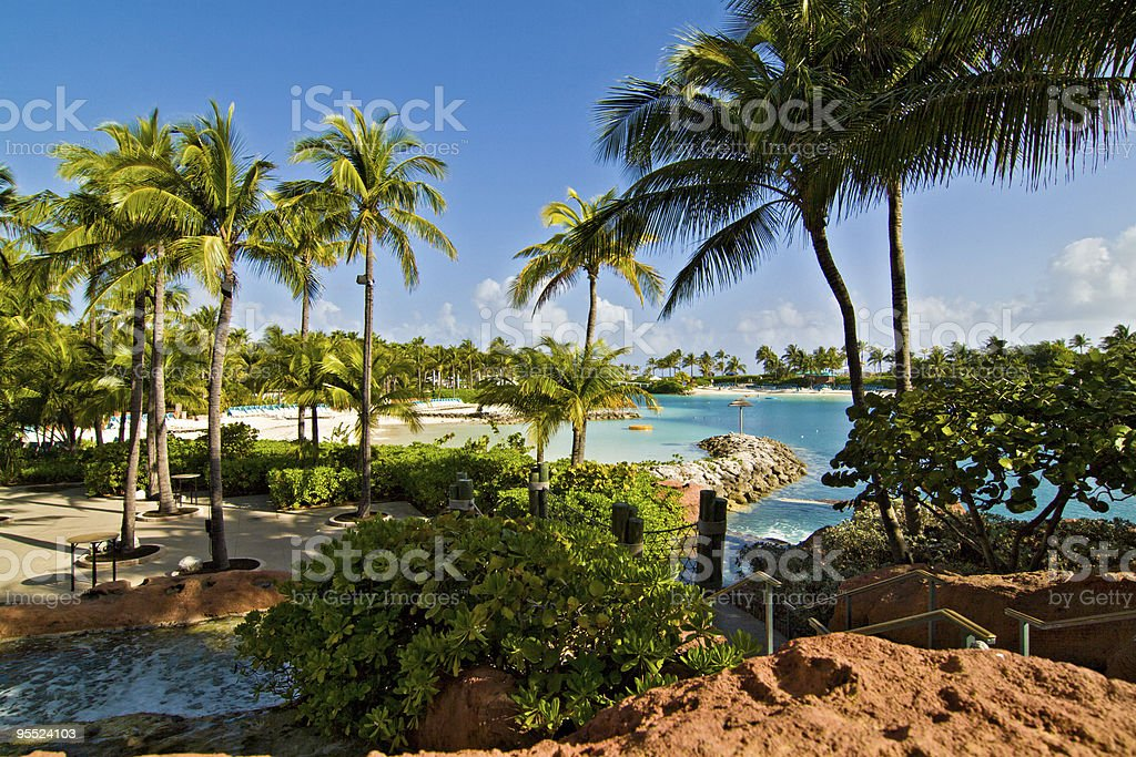 Beach at Paradise Island, Bahamas royalty-free stock photo