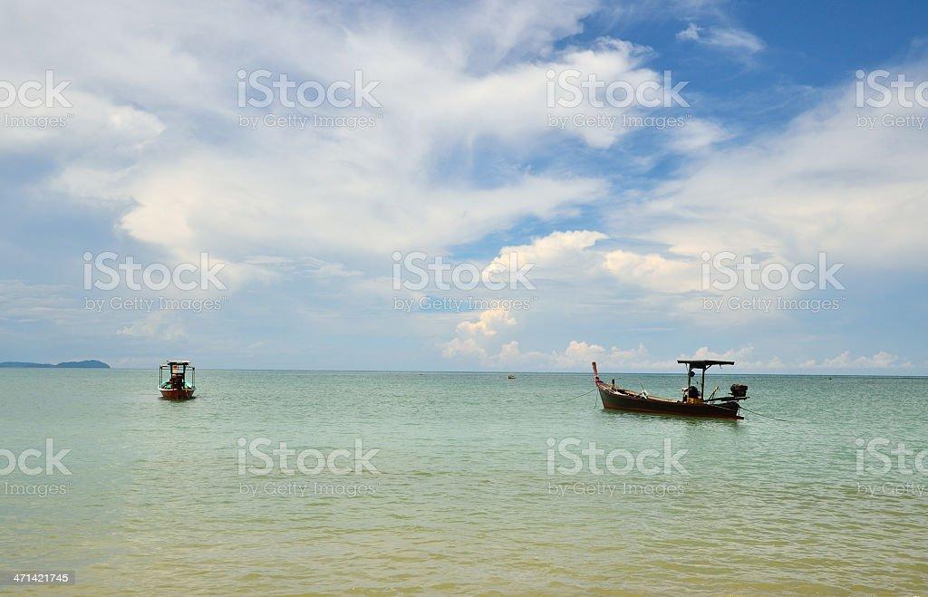 Beach at phang nga province stock photo