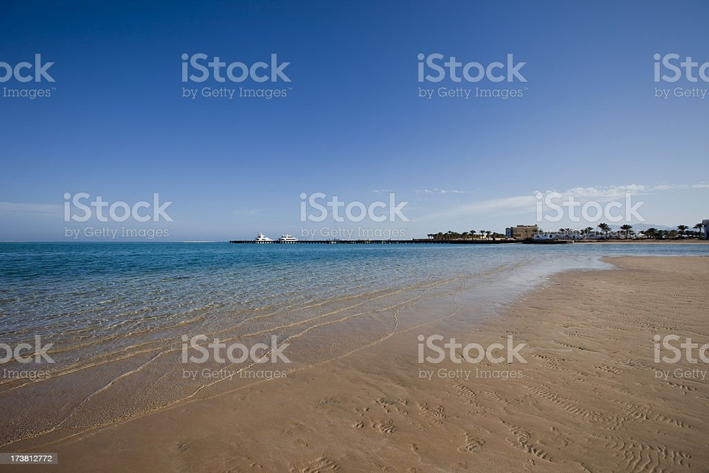 Beach at red sea Egypt royalty-free stock photo