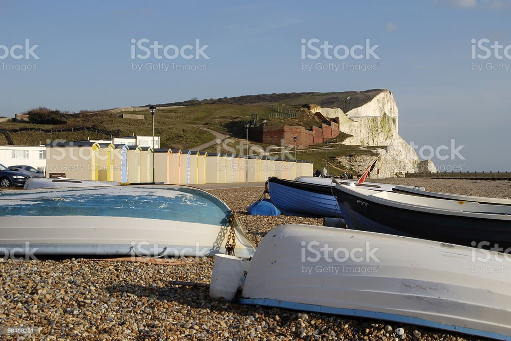 Beach at Seaford. East Sussex. England royalty-free stock photo