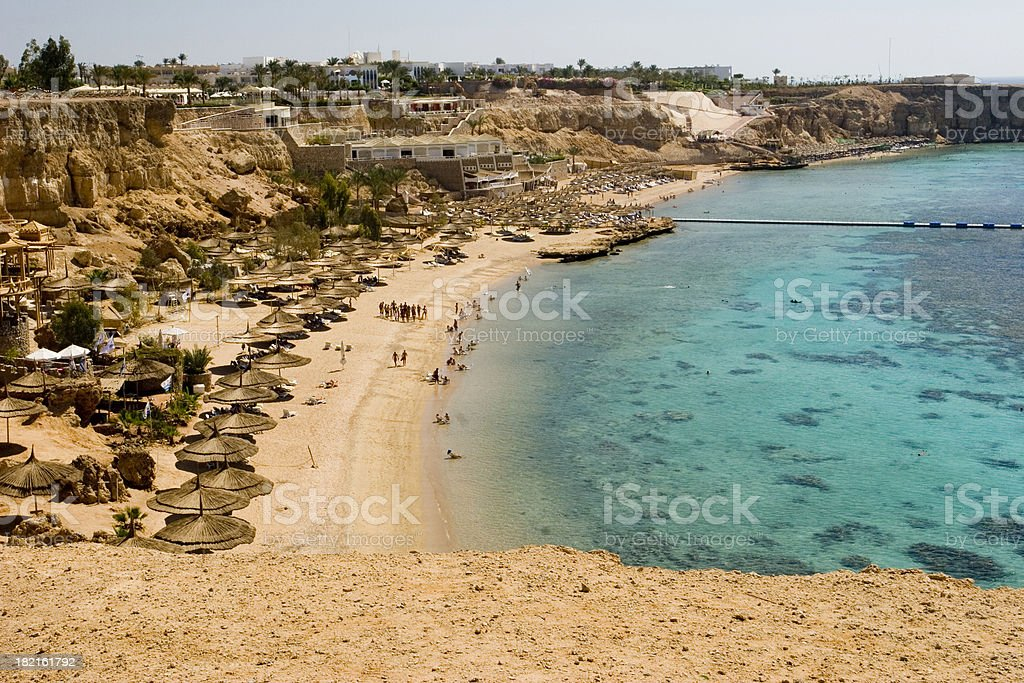 Beach at Sharm al-Sheikh stock photo