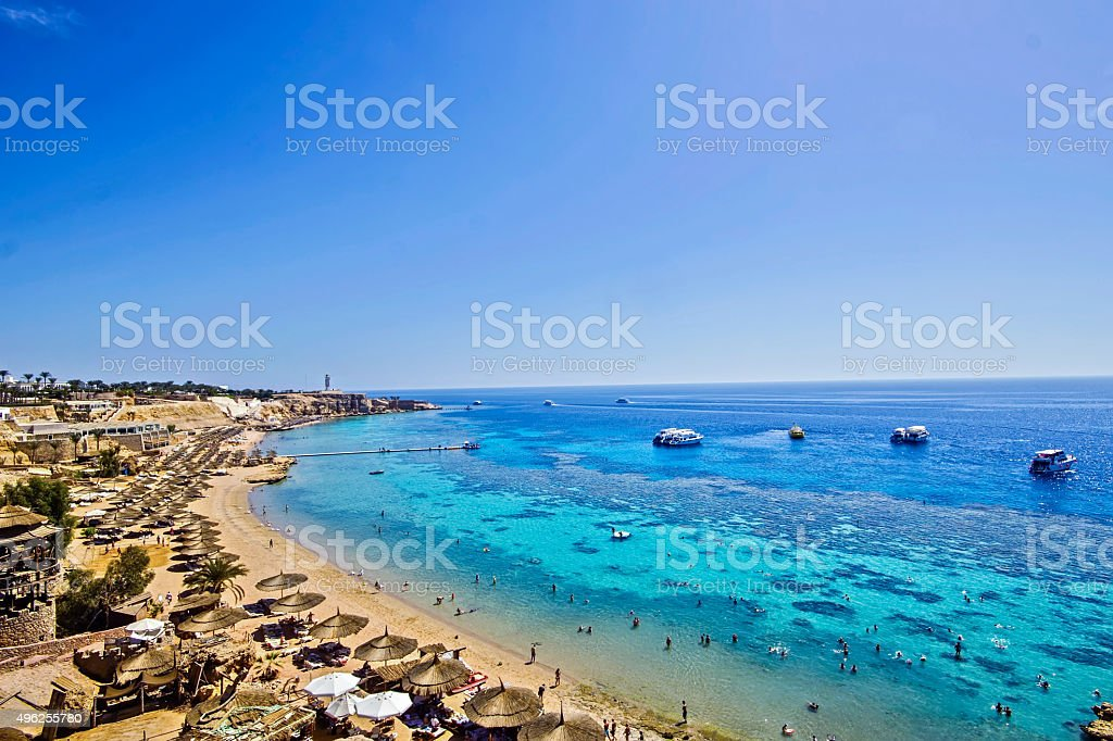 Beach at Sharm el Sheikh stock photo