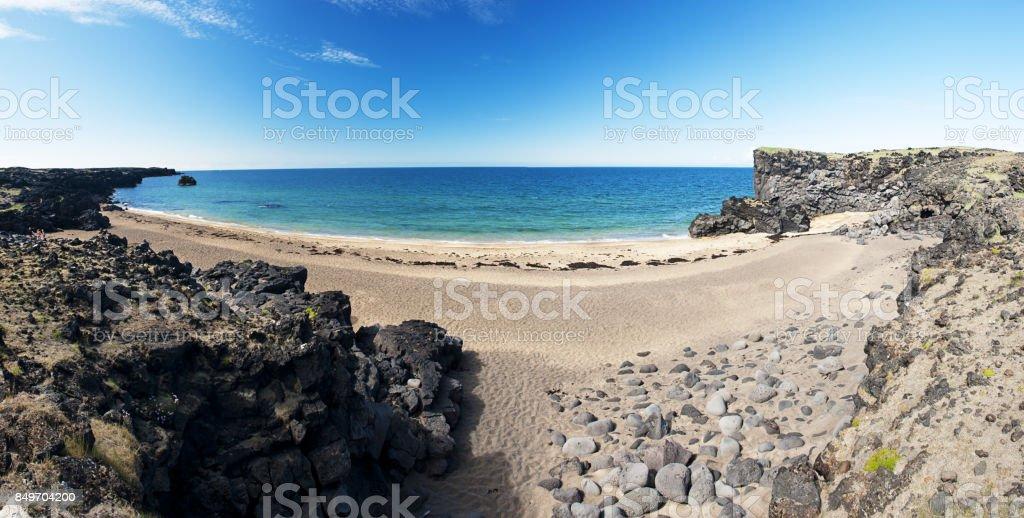 Beach at Snaefellsnes stock photo