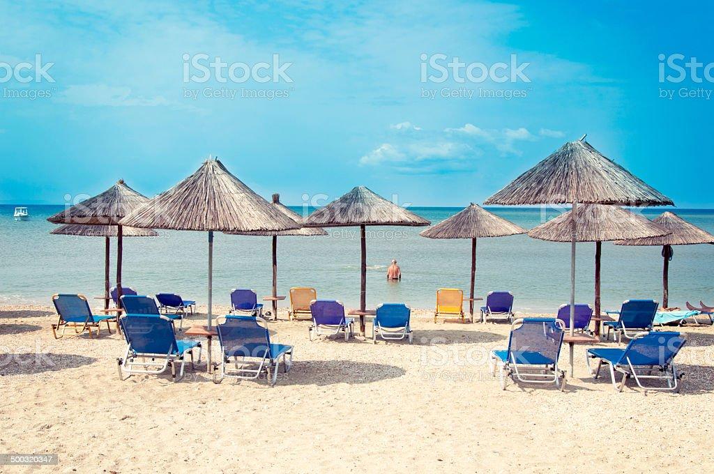 Beach at summer stock photo