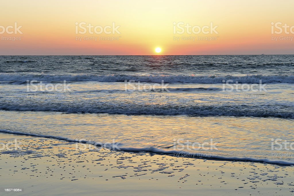 Beach at Sunrise royalty-free stock photo