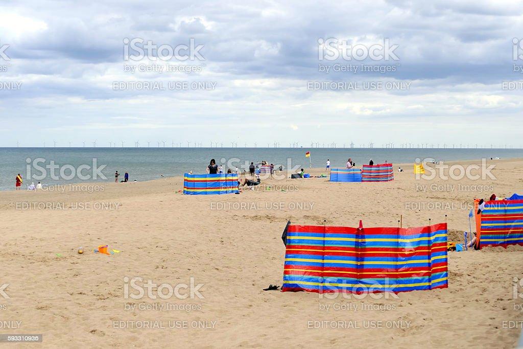 Beach at Sutton-on-sea. stock photo