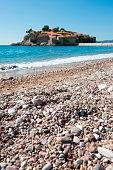 Beach at Sveti Stefan, Budva, Montenegro