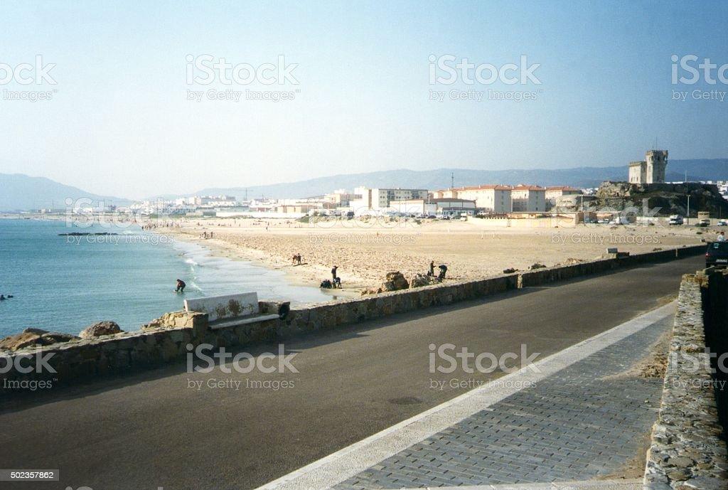 Beach at Tarifa, Spain stock photo