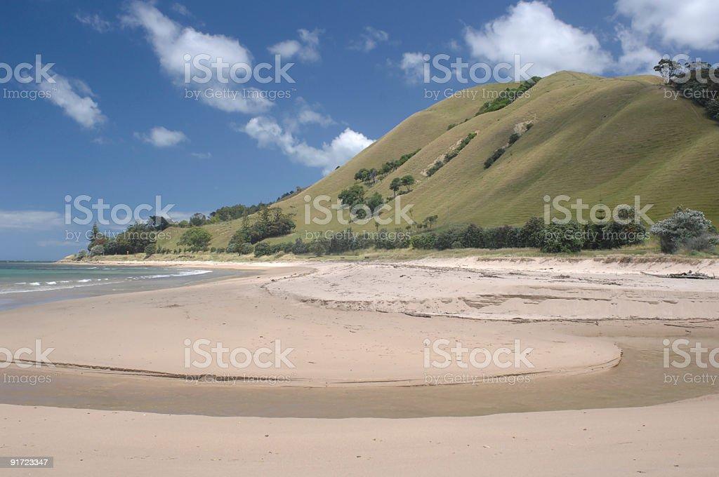 Beach at Tatapouri, Gisborne, New Zealand stock photo