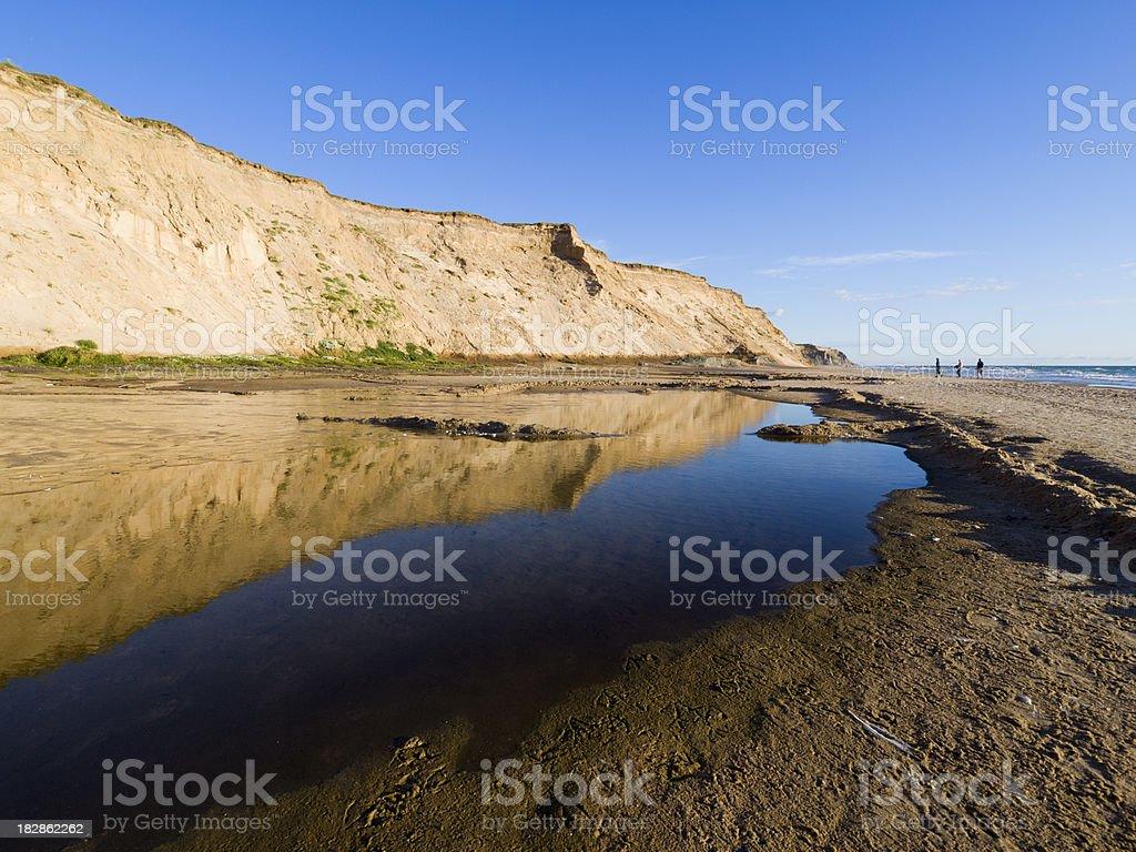 Beach at the west coast of Jutland stock photo
