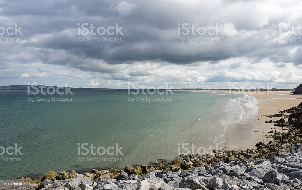 Beach at Tralee stock photo
