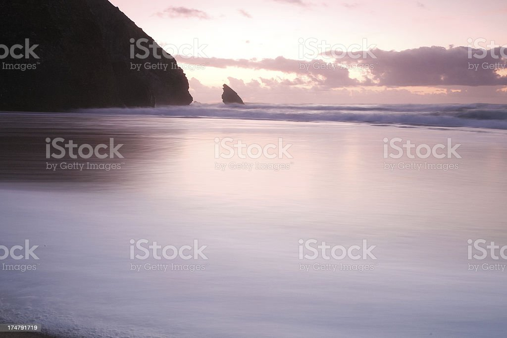Beach at Twilight in Sintra royalty-free stock photo