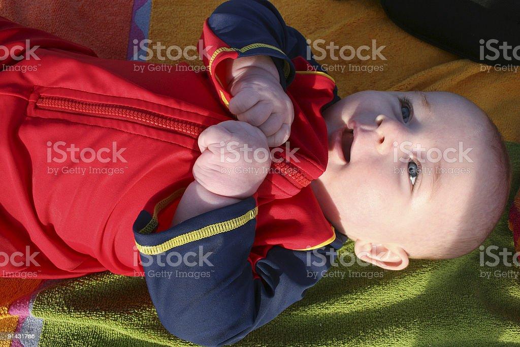 Plage bébé photo libre de droits