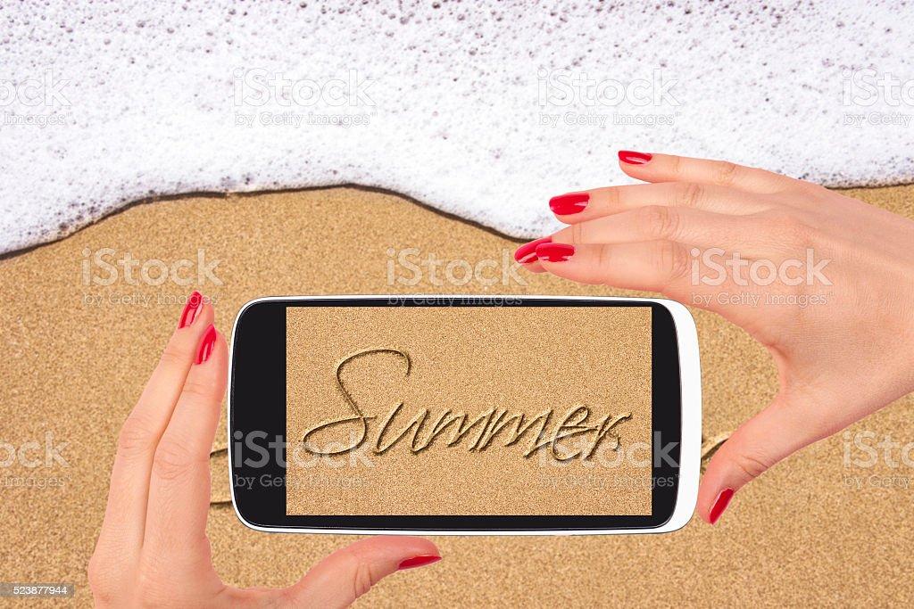 Beach background. stock photo