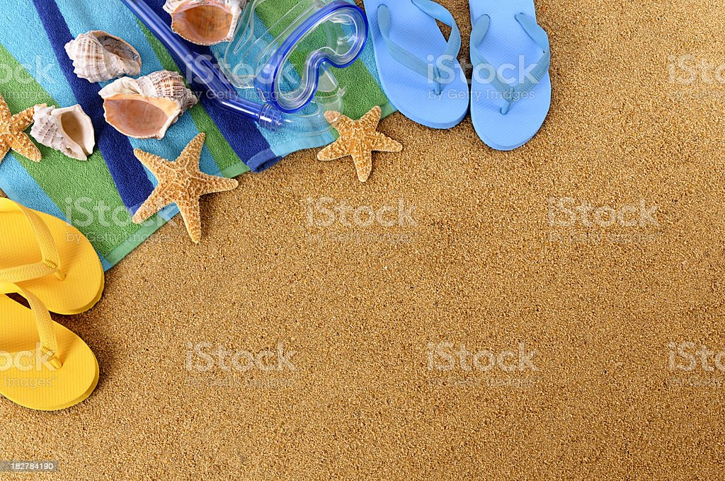 Beach background with copyspace royalty-free stock photo