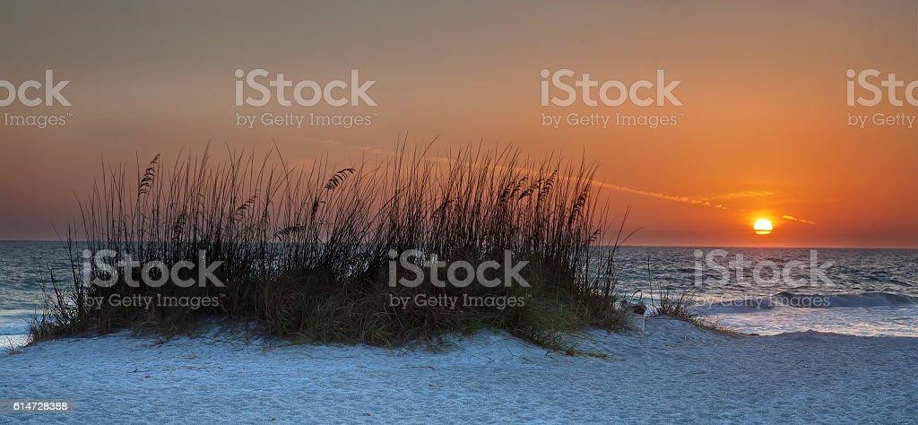 Beach Bag Sunset stock photo